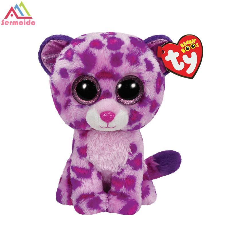 2019 Sermoido TY 6   15cm Beanie Boo Glamour Leopard Plush e11796ddbf9c