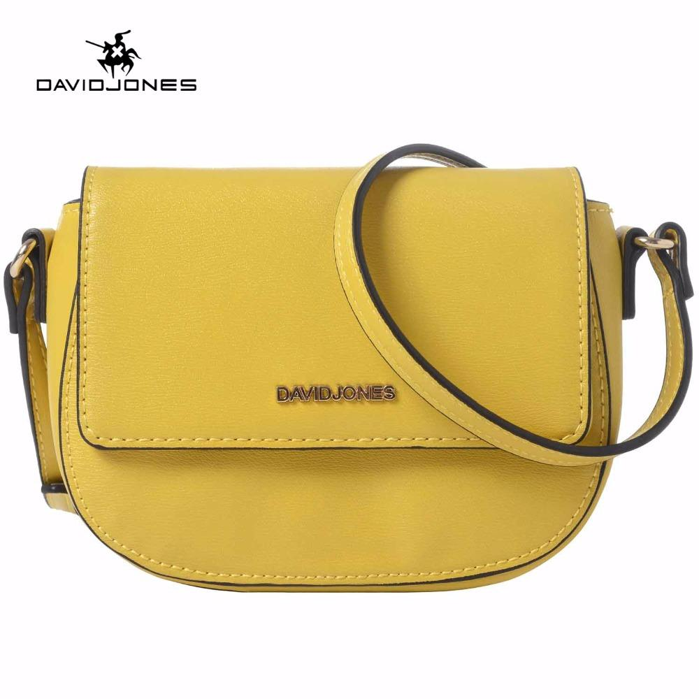 f16bac4f11e9 DAVIDJONES Women Crossbody Bag Small Messenger Mini Saddle Femal Shoulder  Bags Designer Brand Handbags Evening Purse Party Bags Patricia Nash Handbags  ...