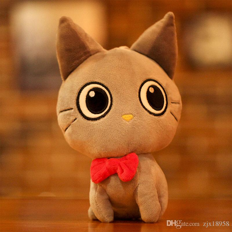 2019 Yiwu Toy Cute Cat Lovers Plush Toys Creative Children Birthday Gift Doll Wholesale Customization Valentines Affordable Good