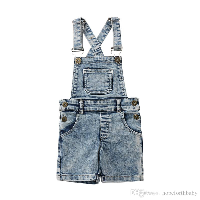 fb64039fec3 Fashion Toddler Kids Baby Boys Girls Denim Bib Pants Overalls Jean Outfits  Sleeveless Denim Shorts Jumpsuit Outfits Summer Boys Pants With Suspenders  Brown ...