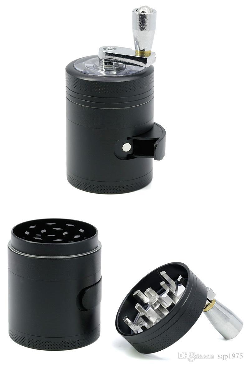 Four layers of zinc alloy diameter 40MM Mini hand side opening shedding shank shredding smoker