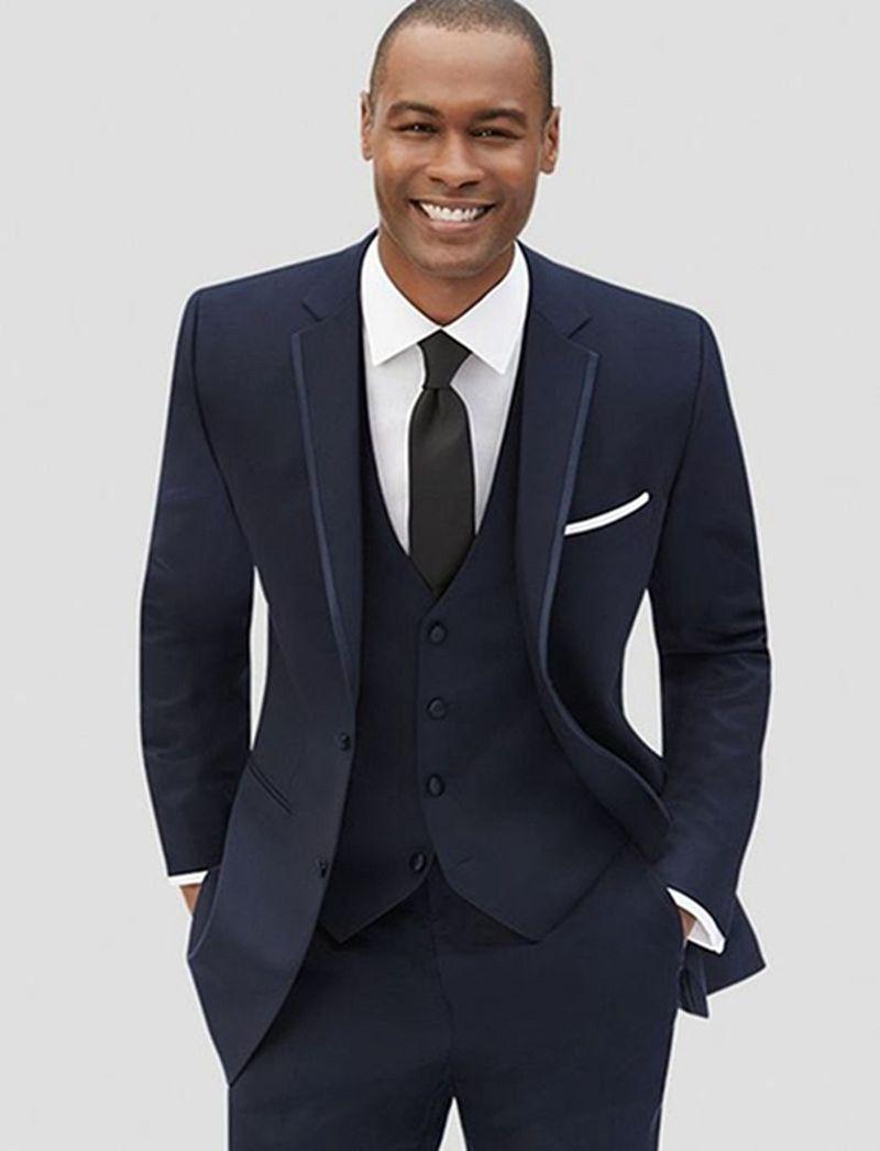 ca88286fb7bd 2019 Latest Coat Pant Designs Navy Blue Formal Custom Groom Blazer ...