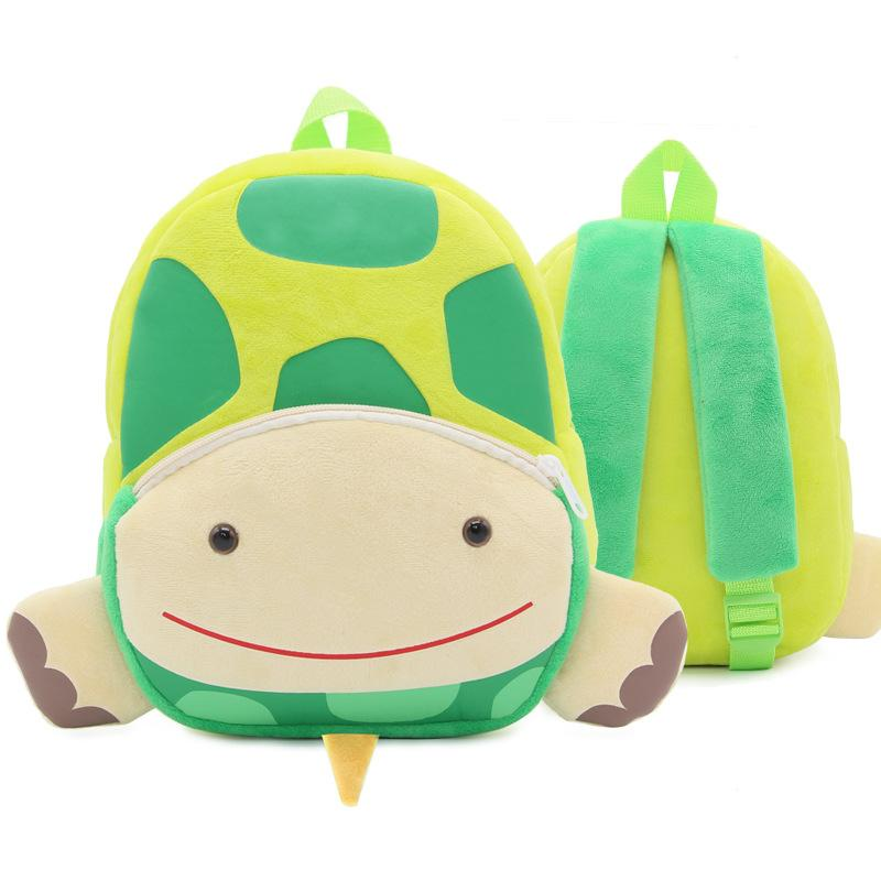 Baby Plush Backpack Children Tortoise Cartoon Kid School Bag for Baby Girls Boys 1-3 Years Old Kindergarten Kids Backpacks