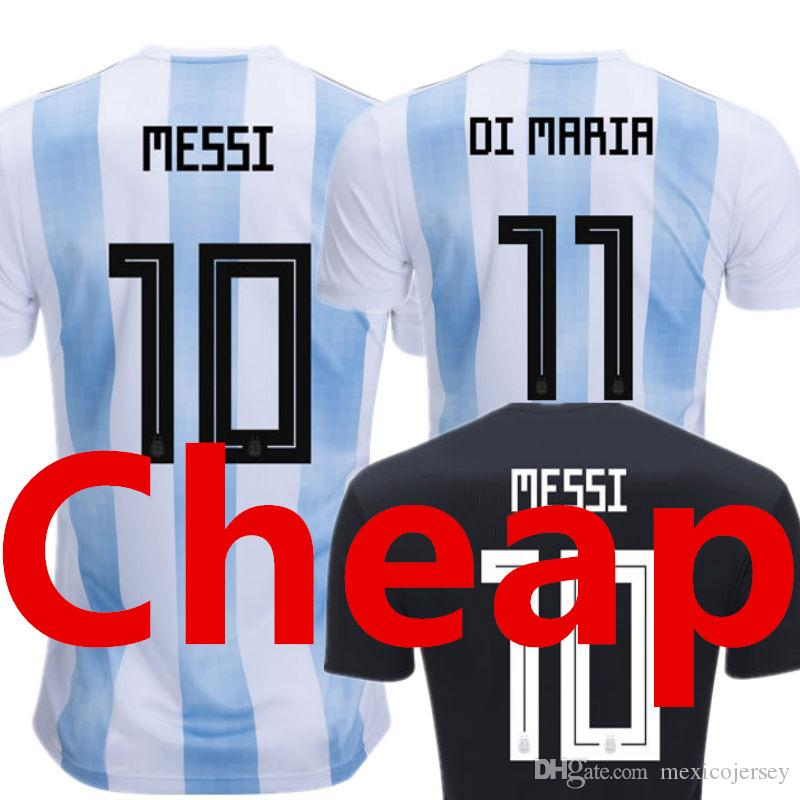 2d423a508 Argentina Soccer Jersey 2018 World Cup Camisetas De Futbol Camisa ...