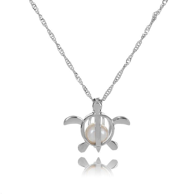 2020 Aşk İstek doğal İnci Kafes kolye kolye ile Oyster Pearl Mix Tasarım Moda Hollow Locket Clavicle Zincir kolye toptan