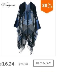 Voneyesa nuovo inverno poncho sciarpe le donne calde donne cachemire oversize scialli i di alta qualità RO17014