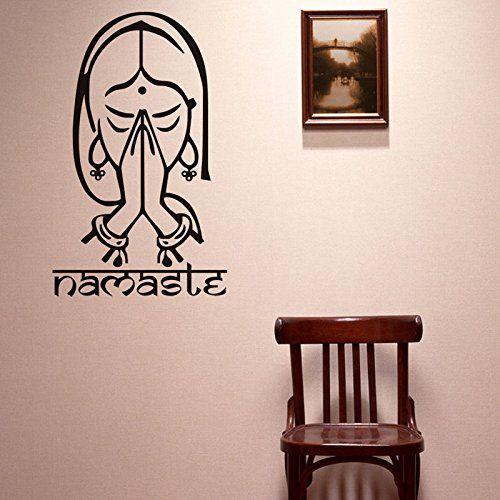 Yoga Namaste Wall Sticker Decal For Home Yoga Studio Office Living ...