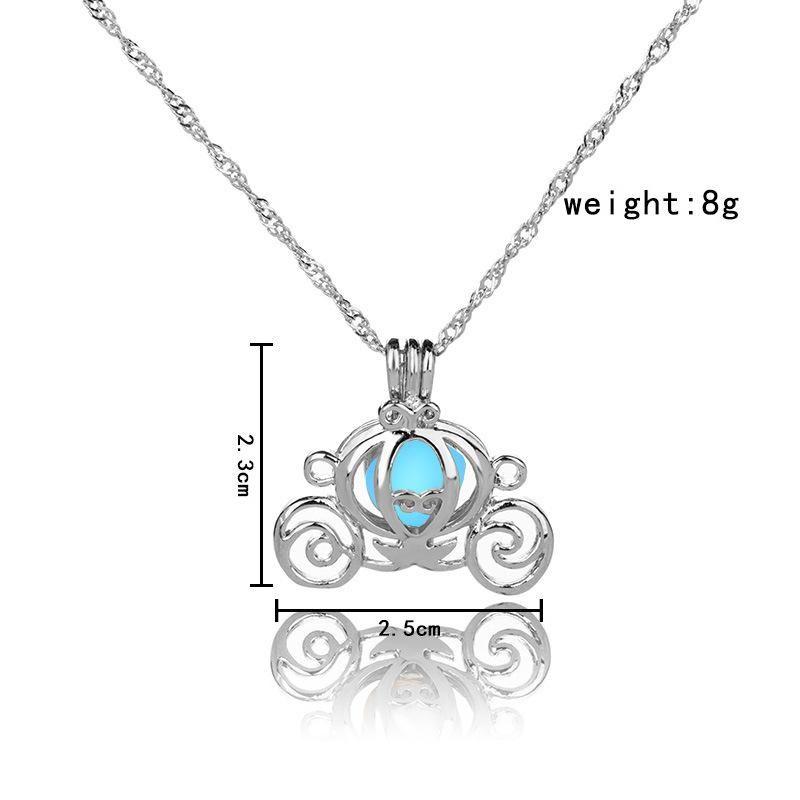 2017 squash car Open box night Luminous Pendant Necklace long Chain Collar choker necklace women Statement Jewelry