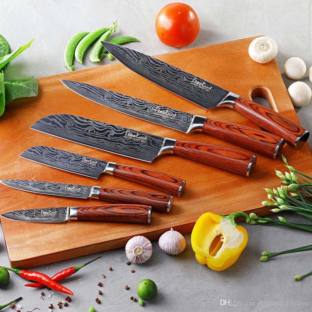 Acquista Coltelli Da Cucina Giapponese 7CR17 440C Utensili In ...