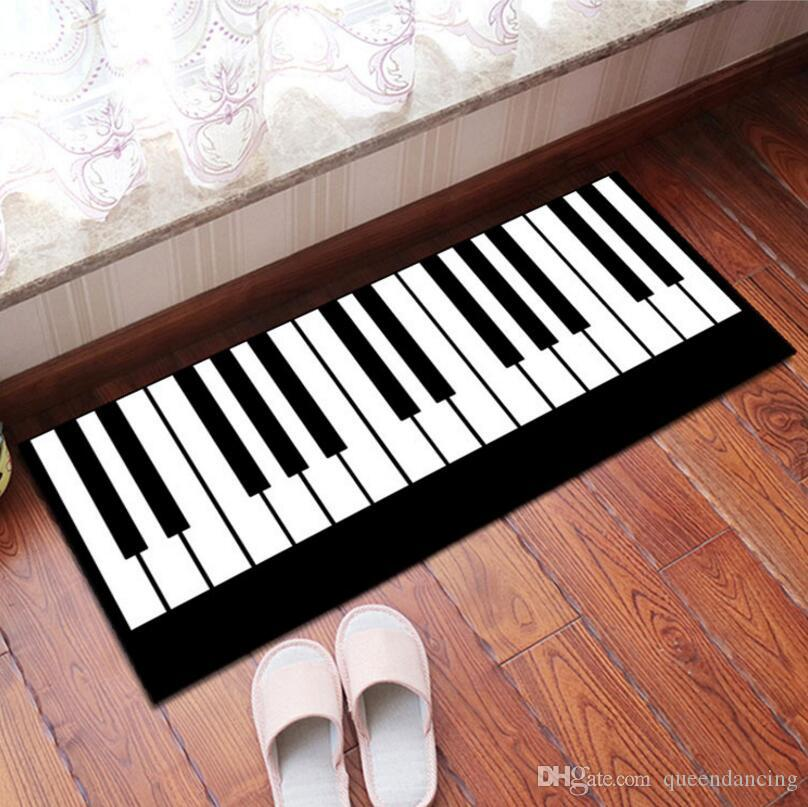Anti Skid 3d Piano Print Bay Window Cushion Carpet Study
