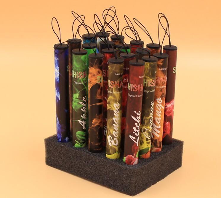 E ShiSha Hookah Pipe Pen Disposable Electronic Cigarette Fruit Juice E Cig Stick Shisha Time 500 Puffs DHL FREE