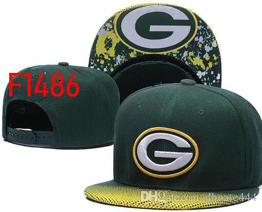 3aa30d958ae 2019 Sunhat Flated Brim Hat Green Bay Cap Fan s Headwear Snapback ...