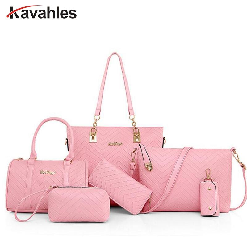 New Famous Brand Luxury Lady Handbag Composite Bags Set Women ... 34cde7fb026e2