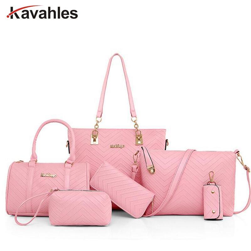 New Famous Brand Luxury Lady Handbag Composite Bags Set Women ... 0e3139ad509d6