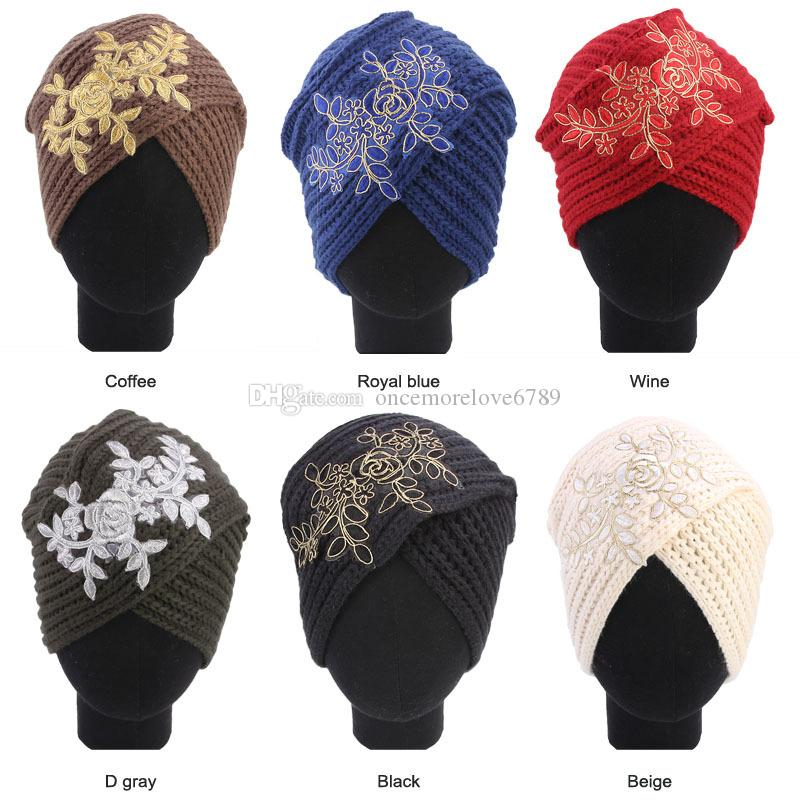 Muslim Vintage Winter Hat Warm Knit Cap Print Leaf Beanie Sleep Chemo  Turban Headwear Cancer Patients Slouch Beanie Ski Hats From  Oncemorelove6789 9eec951f810