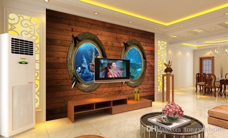 Seaside Ocean Treasure Treasure Board Fondos de Escritorio 3d 3d a gran escala Mural ktv Hotel Restaurant Theme Wallpaper