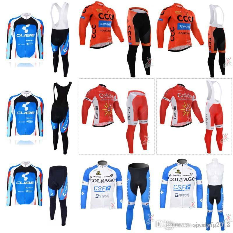 CCC COFIDIS COLNAGO CUBE Cycling Jersey Sport Suit Mountain Bike ... aa727166e