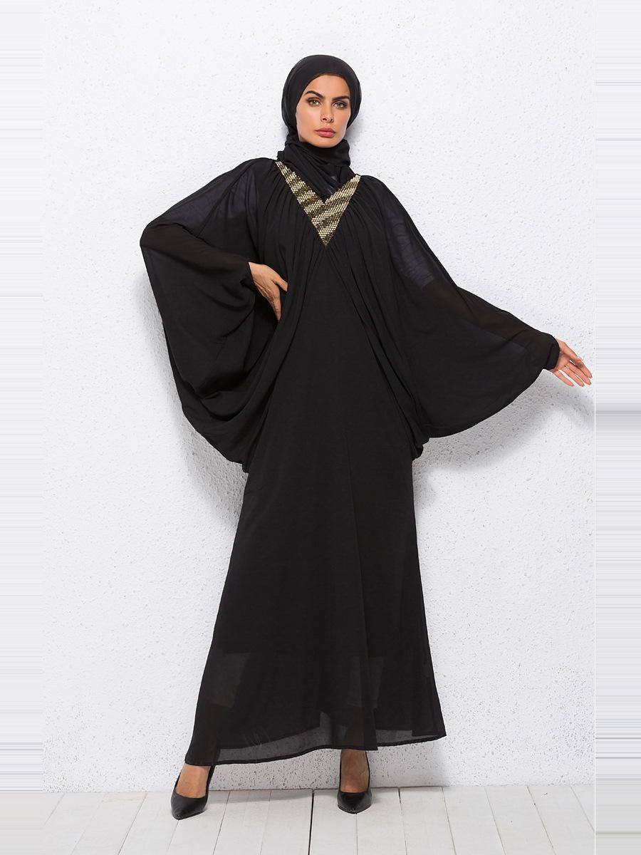 318A1009 High Quality Middle East Muslims Arabia Bat Sleeve Dress ... 048af0eaf