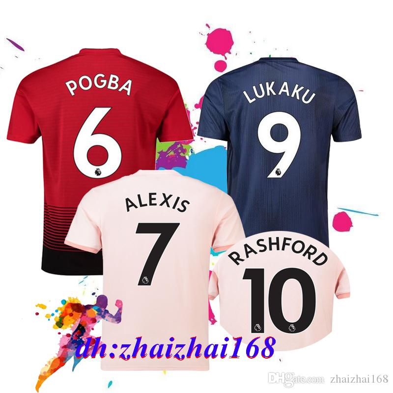 2019 AAA+ 18 19 FC United Soccer Jersey 2019 Man Jersey UTD POGBA LUKAKU  RASHFORD ALEXIS Football Shirt Adult Men And Women Uniform From  Zhaizhai168 4f96bdfe07