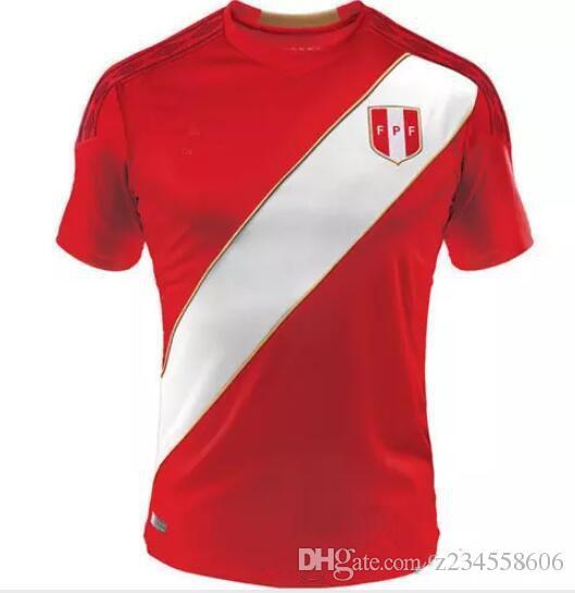 5bf780a35 Top 2018 Peru Soccer Jersey Home White 18 19 Paolo Hurtado Trauco ...