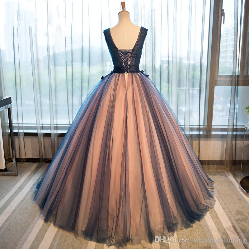 Real Image Beautiful Prom Dresses Two-toned Floor Length Formal Ball Gowns Red Carpet Women Formal Celebrity Evening Dress vestidos de festa