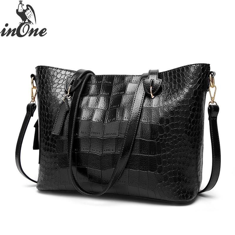 64db2ccfe51 INONE Luxury Bags For Women 2018 Shoulder Tote Bags Crocodile Alligator PU Faux  Vegan Leather Handbag Arrow Crossbody Travel Bag Shoulder Bags For Men ...