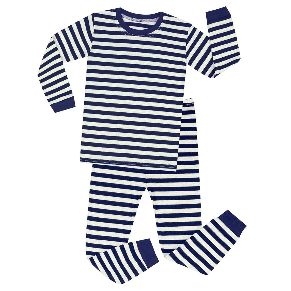ea28383dcc Full Sleeve Cotton Boys Christmas Pajamas Sets Children Striped Pajamas  Pijama Unicornio Infantil Kids Clothes Santa Footed Pajamas For Girls  Christmas Pjs ...