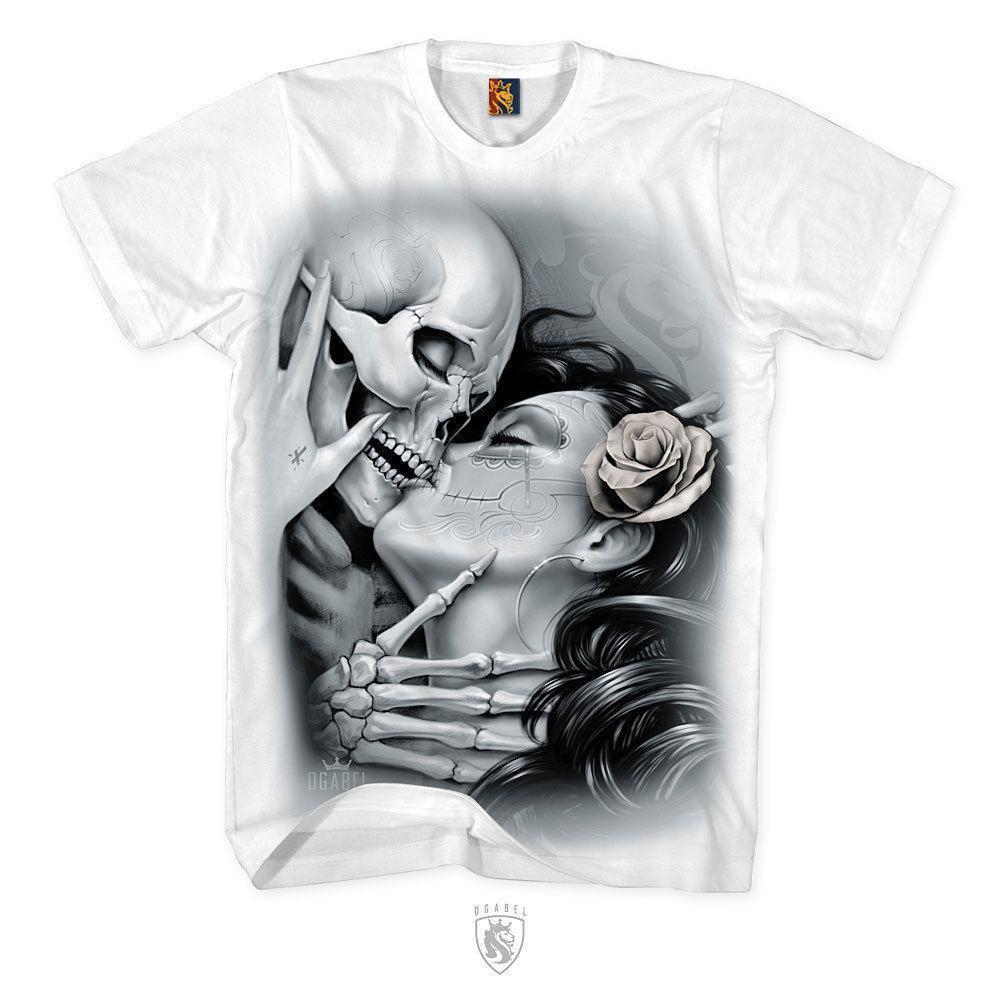 Og Abel Ogabel Mens Love Lost T Shirt White Art Tattoo Ink Skull