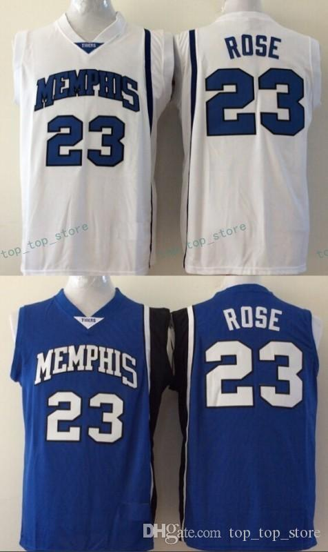 01e05411 ... ncaa jersey; 2018 cheap memphis tigers derrick rose college basketball jersey  23 derrick rose university stitched jerseys blue