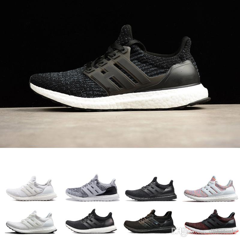 huge selection of e4ca2 eb307 2019 Ultra Boost 3.0 III Triple White Running Shoes Men Ultra 4.0 IV White  Black Oreo Athletic Sports Sneaker Shoe Canada 2019 From Dhhotsale, ...
