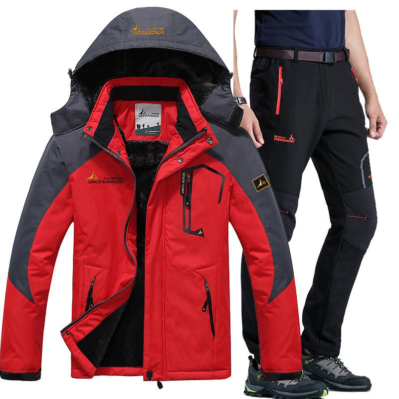 2019 Winter Ski Jacket Suits Men Waterproof Fleece Snow Jacket Thermal Coat  Outdoor Mountain Skiing Snowboard Pant Suits L 5XL From Shinny33 05128be7f