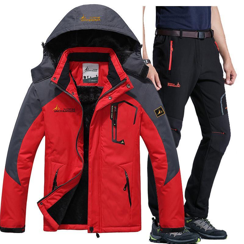 a31eff2b67e5 Winter Ski Jacket Suits Men Waterproof Fleece Snow Jacket Thermal ...