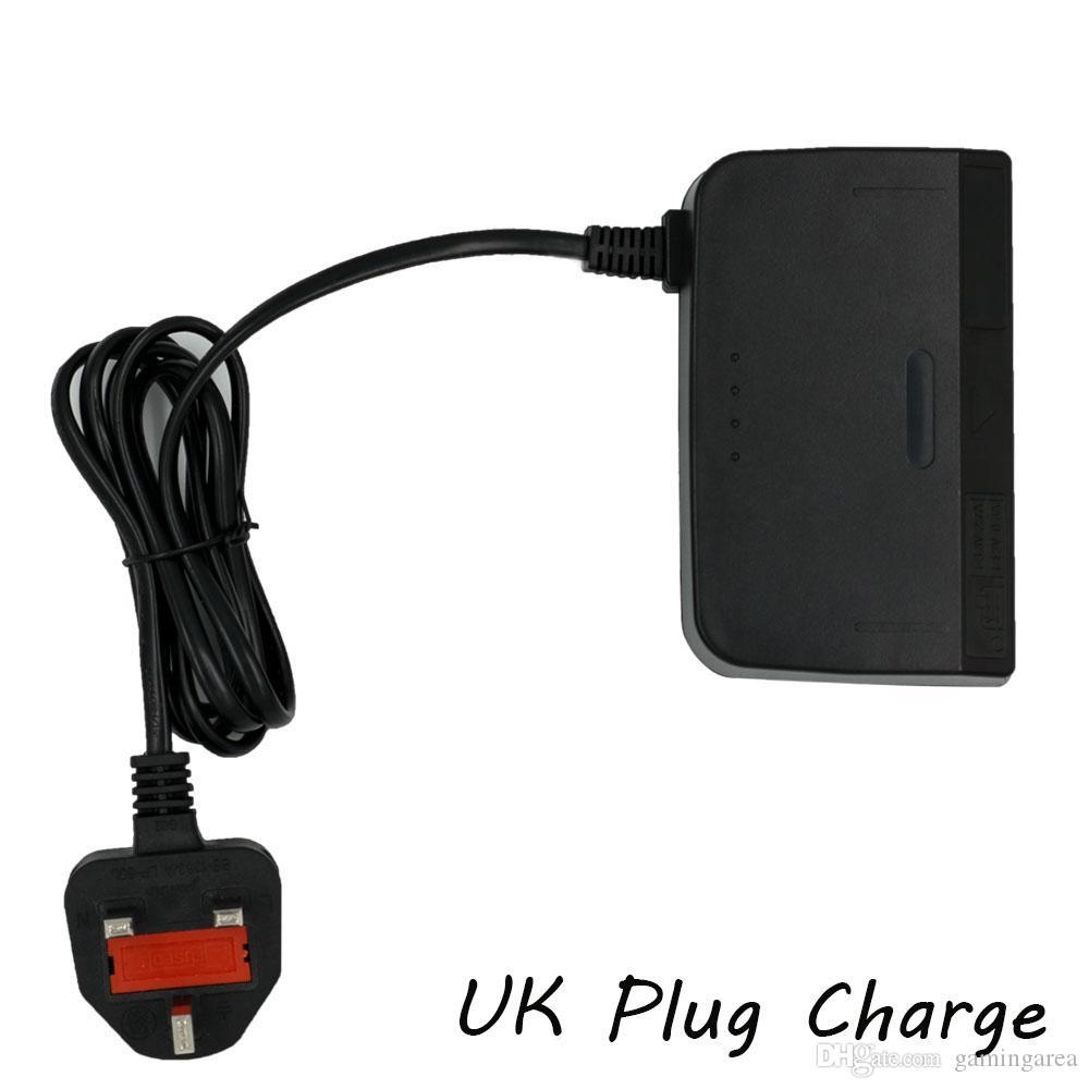 Adaptador de cargador de enchufe de enchufe de AU de AU del Reino Unido para N64 Fuente de alimentación Barco rápido de alta calidad