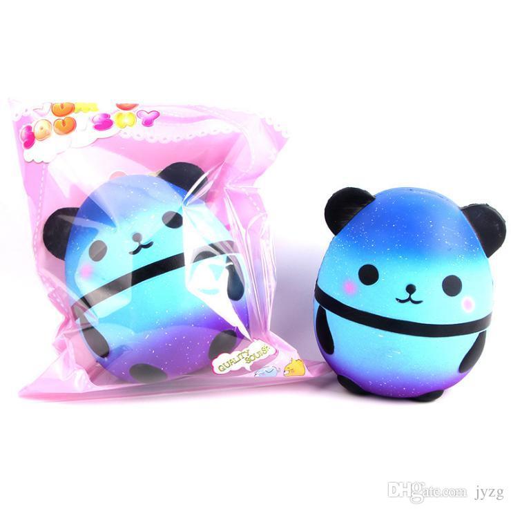 Jumbo Squishy Kawaii Panda Oso Caramelo Huevo Suave Levantamiento elástico Elástico Squeeze Juguetes para niños Aliviar el estrés Chuchería Regalos para el día de los niños