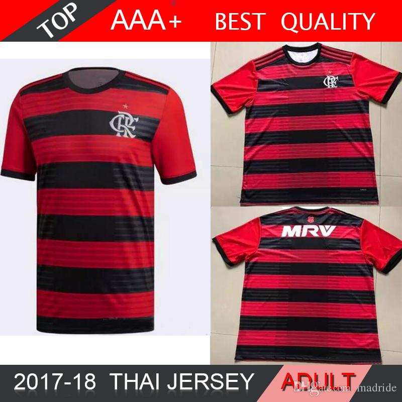 d7b1fc9127a 2019 18 19 Chandal Flamengo Home Soccer Jersey 2018 2019 Brasil Flemish  Flamengo DIEGO CONCA GUERRERO Football Shirts From Madride