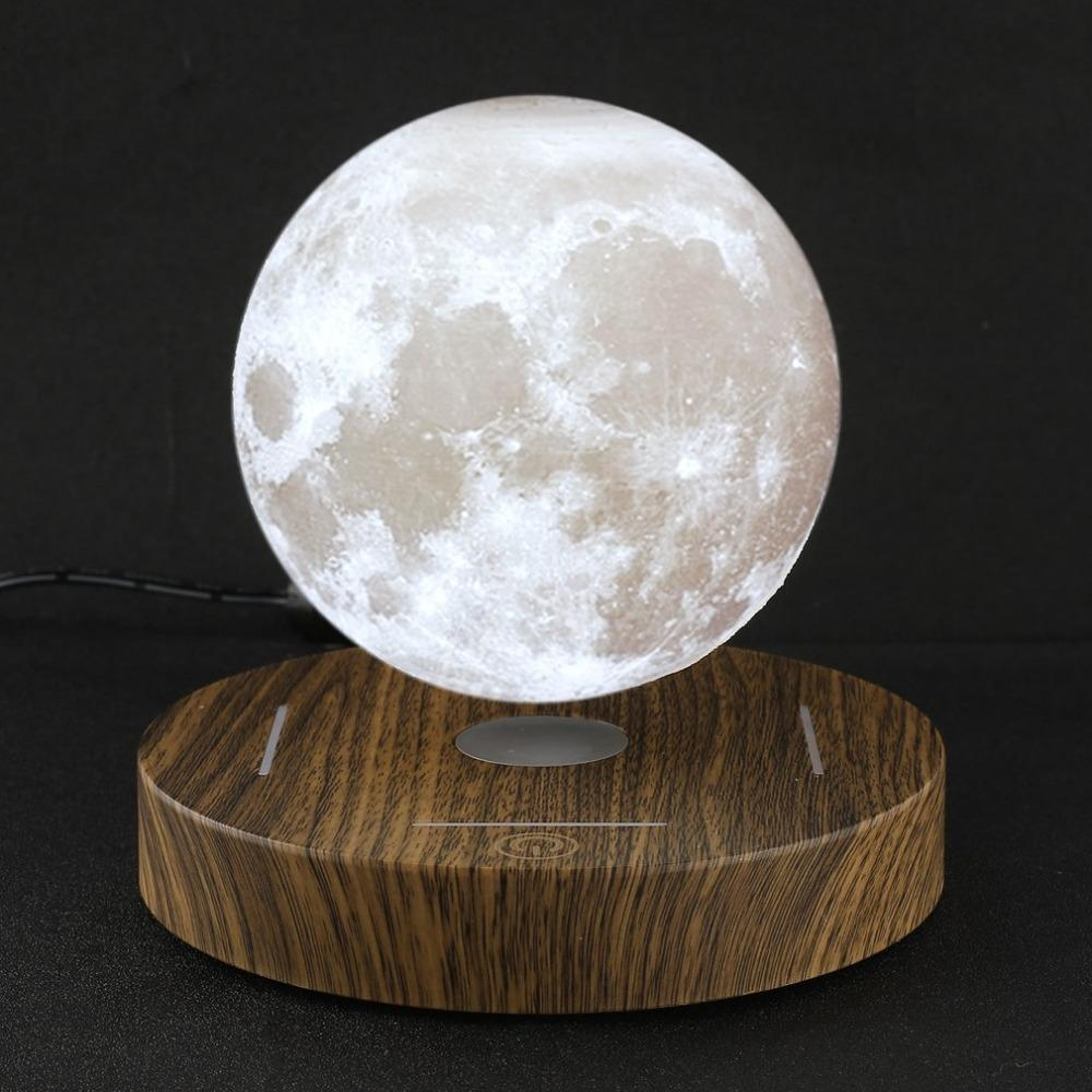 großhandel 3d moon lamp magnetic schwebende holzfuß 10 cm nacht