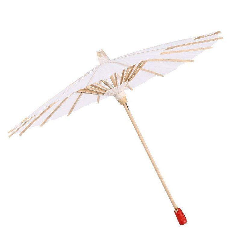 Satın Al Beyaz Boş Kağıt şemsiye Diy El Boyama Fotoğraf Cosplay Prop