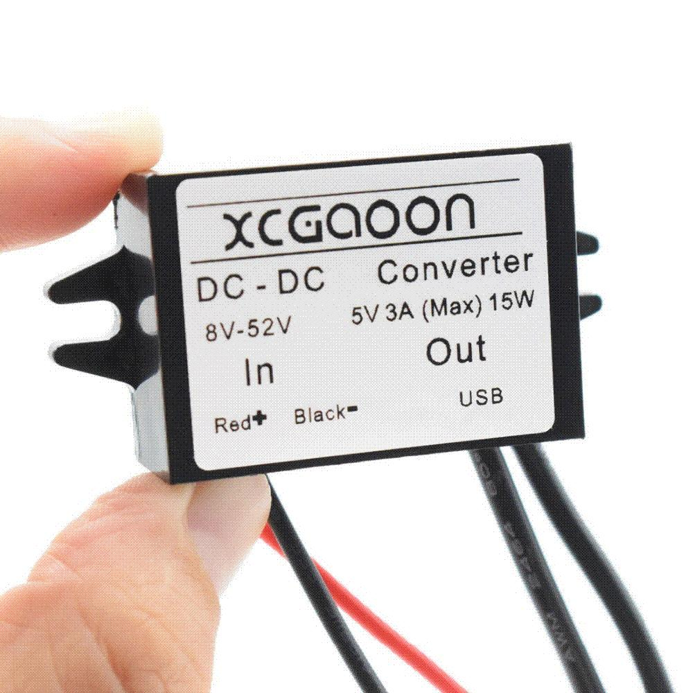 2018 Xcgaoon Dual 2 Usb Dc Car Converter Module Cable Input 12v To 24v 48v Ouput 5v 3a 15w Power Adapter From Mymother009 145
