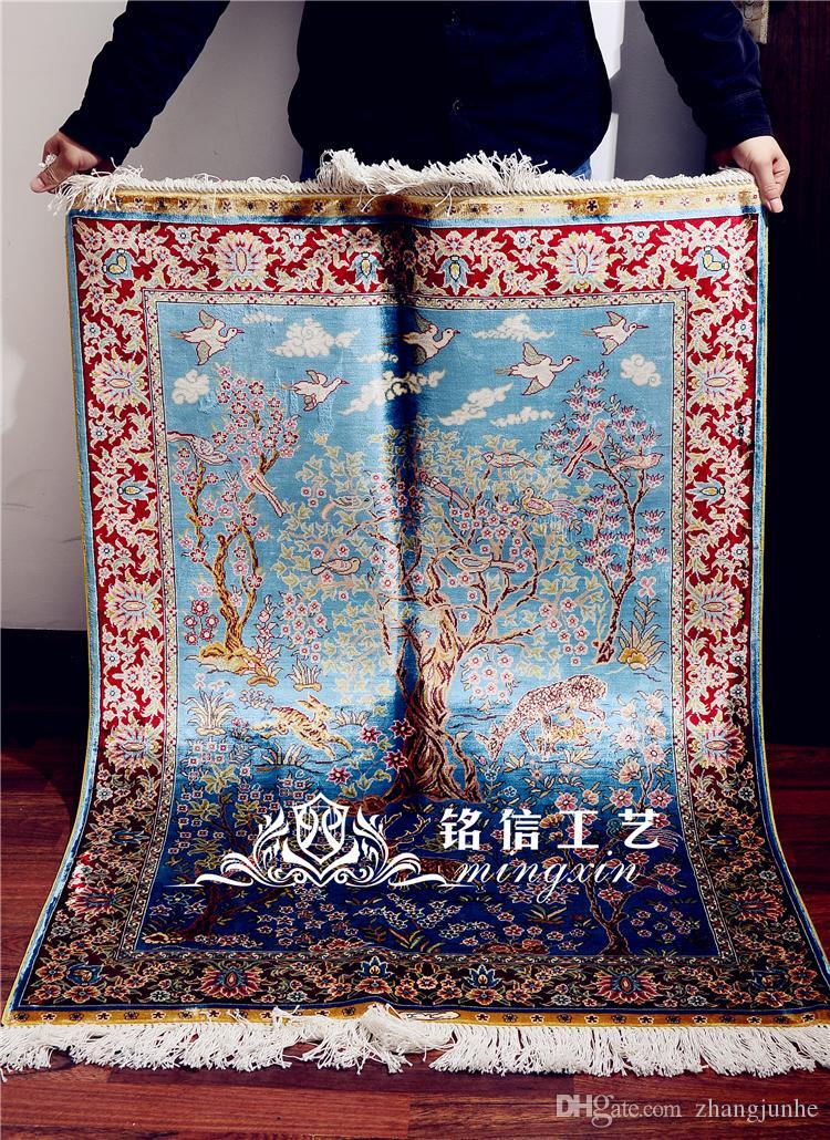 Acheter 2 7 X4 Traditionnel Tabriz Tapis Bleu Clair Vantage Exquis