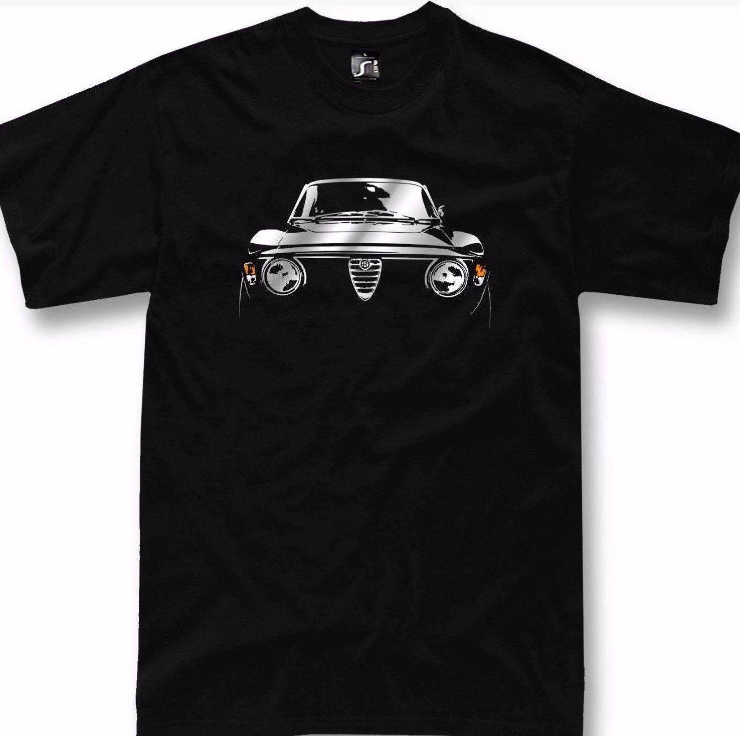 T Shirt For Alfa Romeo Gta Fans Veloce Giulia Gt Classic Tshirt 1750 Sweater 2000 Hoodie 24 Hour Rude Tshirts From Beidhgate02a 1101