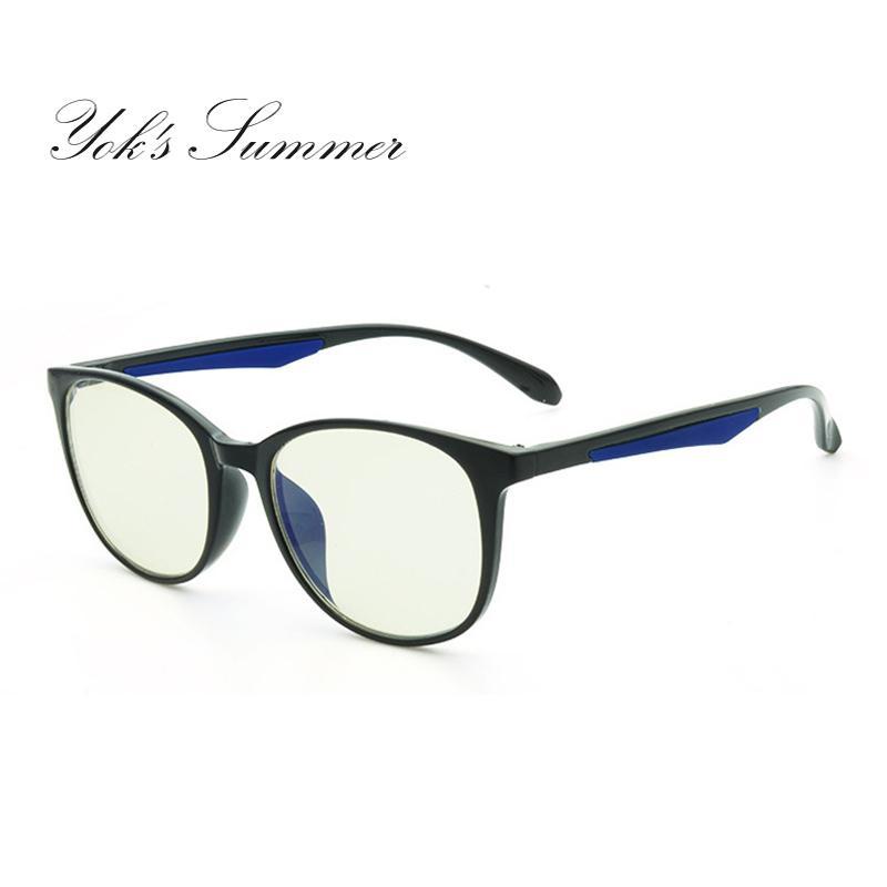 5cbbc705f68 2019 Yok S New Anti Blue Computer Gaming Eyeglasses Unisex TR90 Titanium  Oval Ultra Light Glasses Frame Optical Prescription Eyewear UN081 From  Yoks
