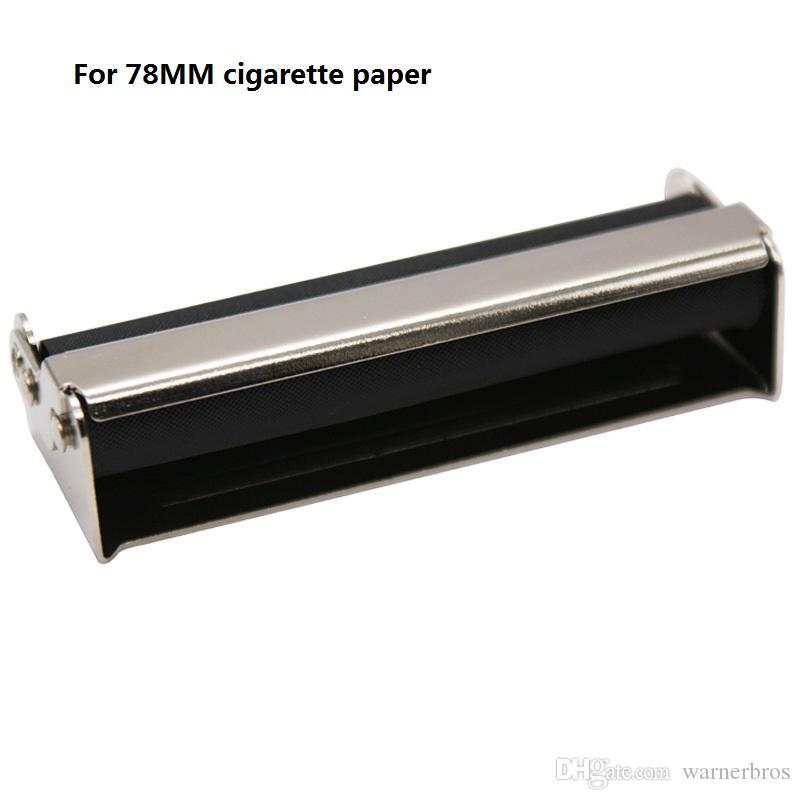 78MM Hand Roller Portable Metal Cigarette Rolling Machine maker for 78MM cigarette rolling Paper Holder Tobacco Roller Tin