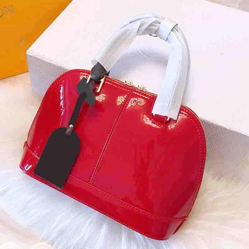 8b94f42149fb Alma BB Women Shoulder Bags Patent Vernis Leather Handbags Famous Brands  Bags Summer Jelly Bag Shell Bag Luxury Designer Purse M51925 Ladies Purse  Leather ...