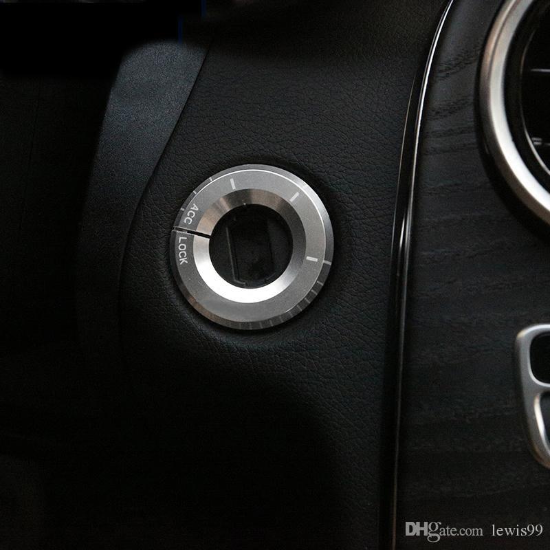 자동차 스타일링 점화 스위치 커버 트림 키 링 홀 원형 스티커 메르세데스 벤츠 A C 클래스 GLA CLA GLC W205 W212 X253 C117 액세서리