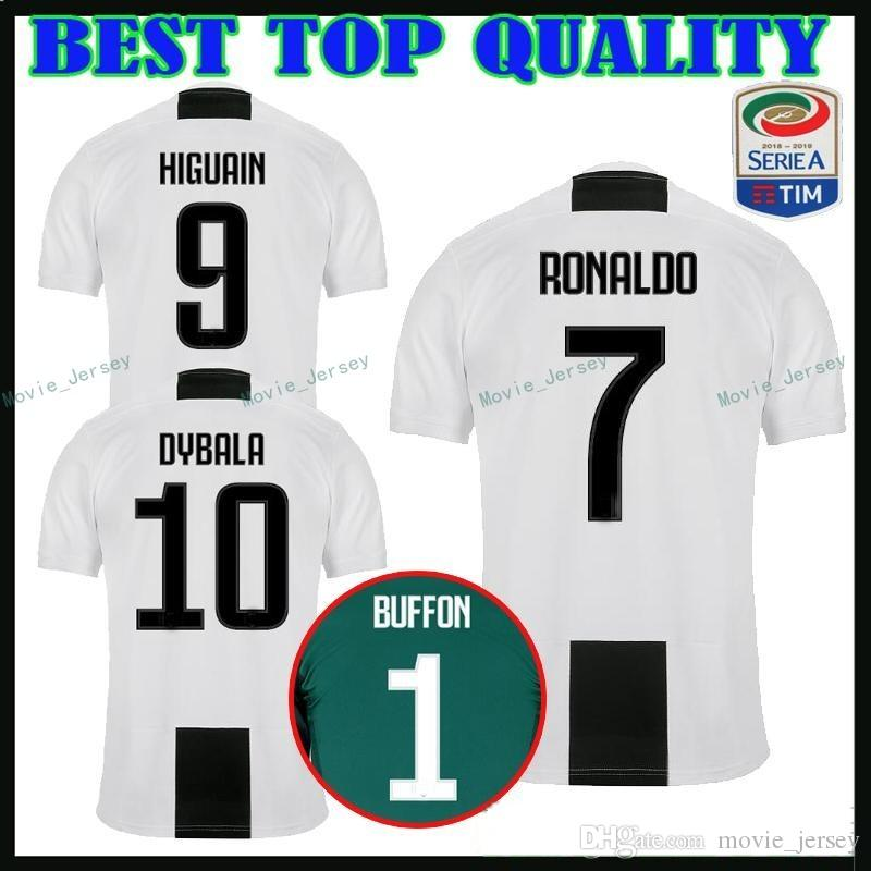 c0f09e829 2019 New 2019 RONALDO JUVENTUS Soccer Jersey 18 19 JUVE 2018 Home Away  DYBALA HIGUAIN Football Shirt CRISTIANO Uniform Team From Movie jersey