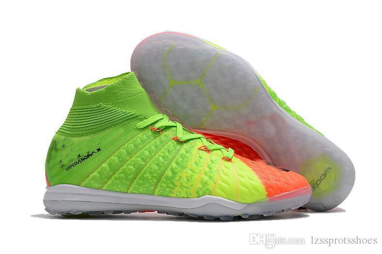 2018 indoor Soccer shoes Top soccer cleats Hypervenom Phantom III IC TF Turf high ankle Mens football boots HypervenomX Proximo II DF New