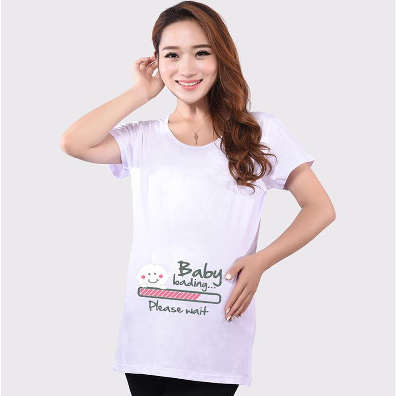967387b1 Funny maternity shirts cute pregnancy tops short sleeve maternity clothes  for pregnant women 5 colors soft cotton t-shirts hot