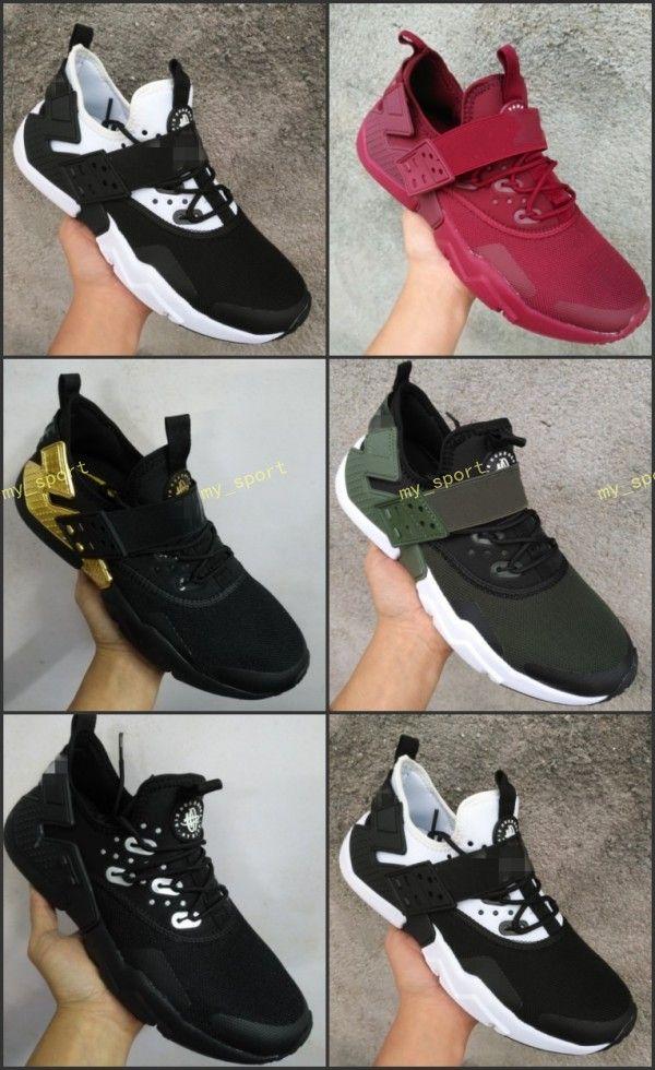 on sale 2d967 15cd8 Air Huarache Drift 2018 Newest Huaraches Ultra Breathe Hurache 6 Running  Shoes Men Women Huraches Sports Sneakers Size 36 46 Running Shoes Online ...