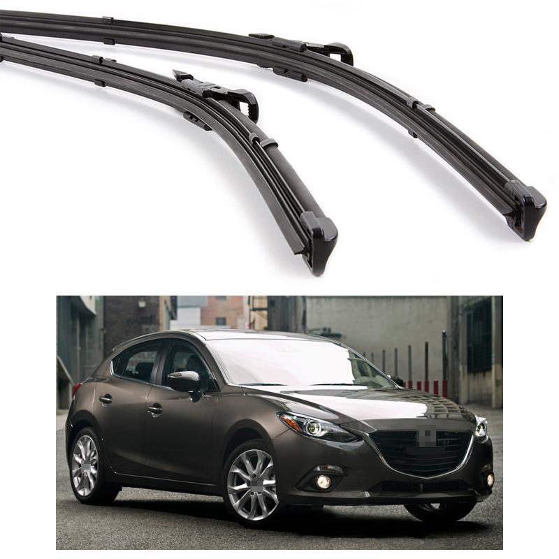 New 24 18 Car Front Windshield Wiper Blade Bracketless Fit For Mazda 3 2014  2015 2016 Mud Flaps Mudguard Mazda 3 2014 2015 2016 Online With  $19.67/Piece On ...