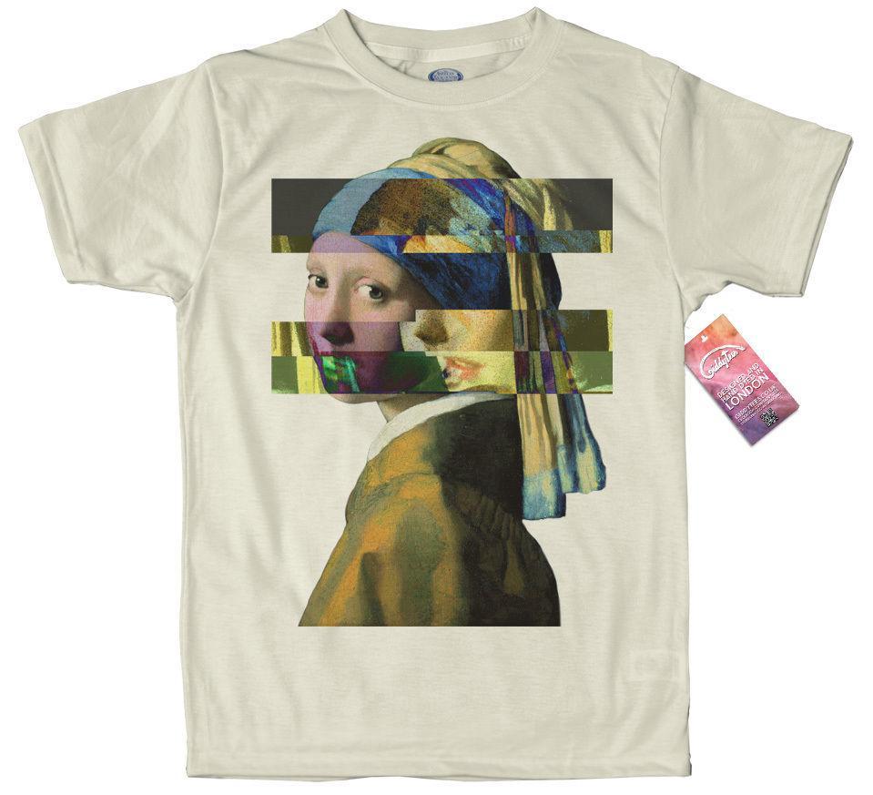 Großhandel Mädchen Mit Einem Perlenohrring Johannes Vermeer T Shirt